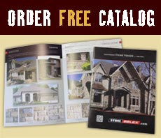 Order free catalog with interior stone fireplaces
