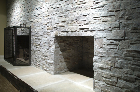 Get an interior stone fireplace for your home. We offer manufacturered stone veneer in Toronto
